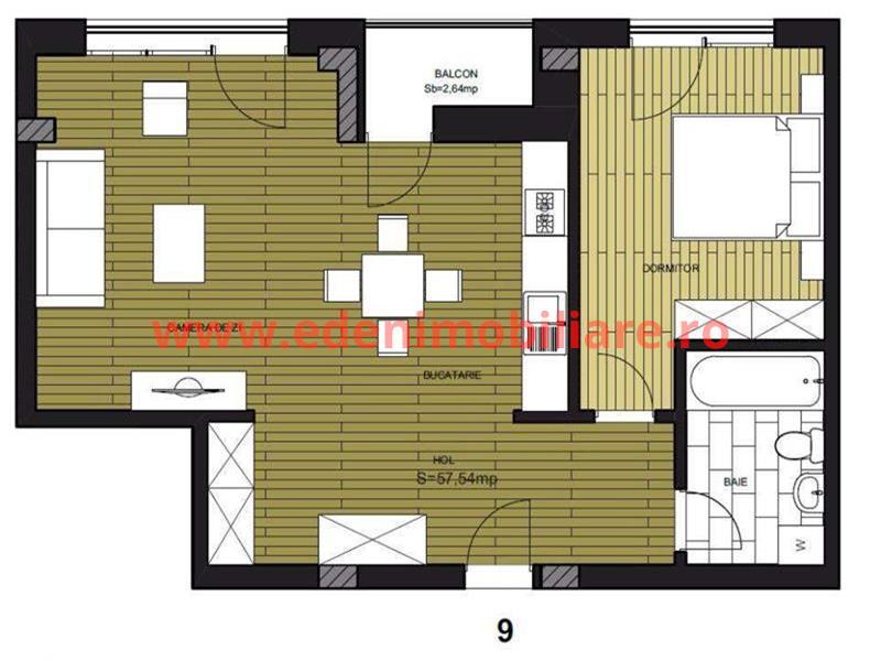 Apartament 2 camere de vanzare in Cluj, zona Borhanci, 57000 eur