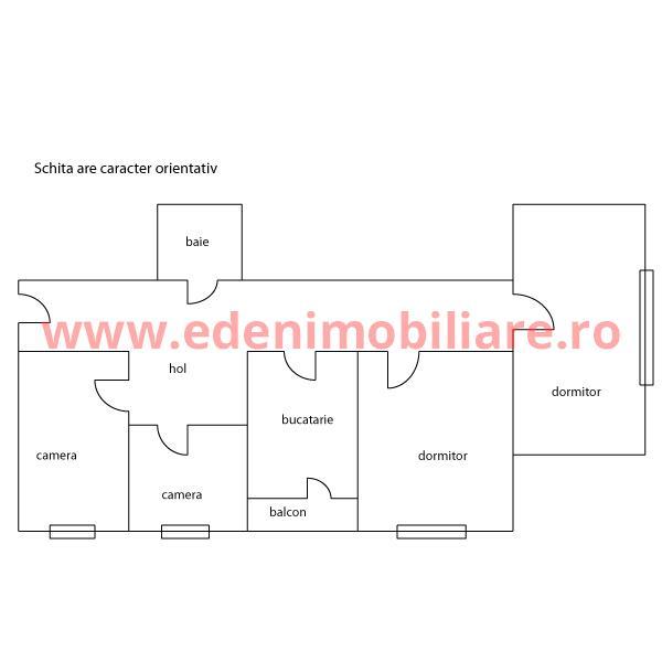 Apartament 4 camere de vanzare in Cluj, zona Grigorescu, 86000 eur