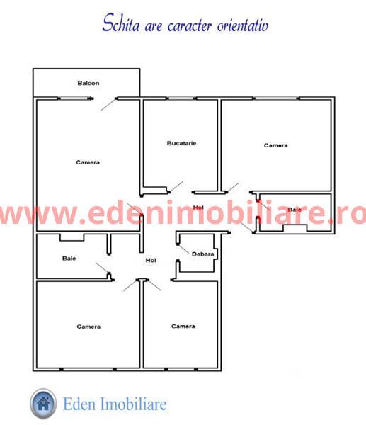 Apartament 4 camere de vanzare in Cluj, zona Marasti, 80000 eur