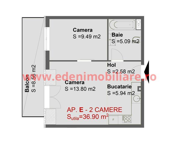 Apartament 2 camere de vanzare in Cluj, zona Marasti, 67000 eur