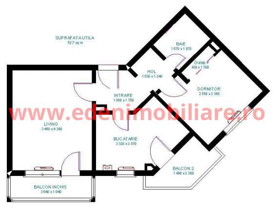 Apartament 2 camere de vanzare in Cluj, zona Grigorescu, 65800 eur