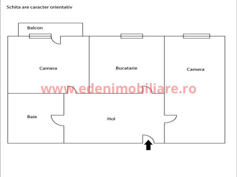 Apartament 2 camere de vanzare in Cluj, zona Manastur, 64000 eur