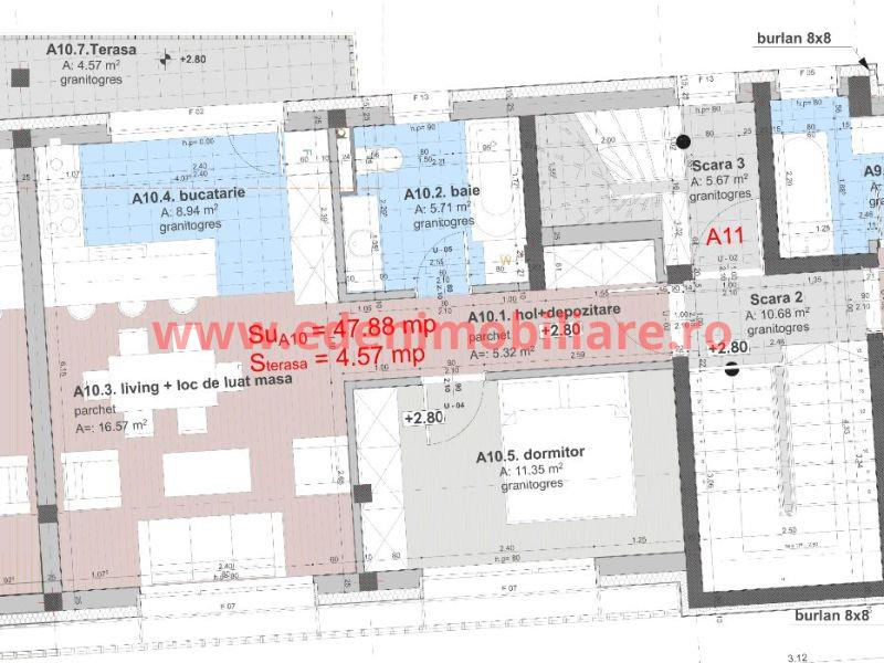 Apartament 2 camere de vanzare in Cluj, zona Grigorescu, 60000 eur