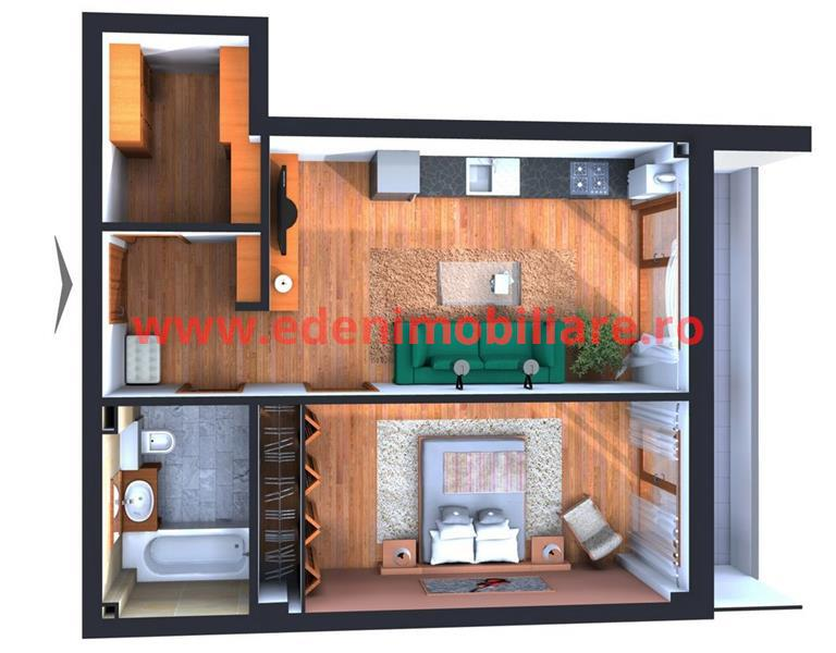 Apartament 1 camera de vanzare in Cluj, zona Centru, 63000 eur