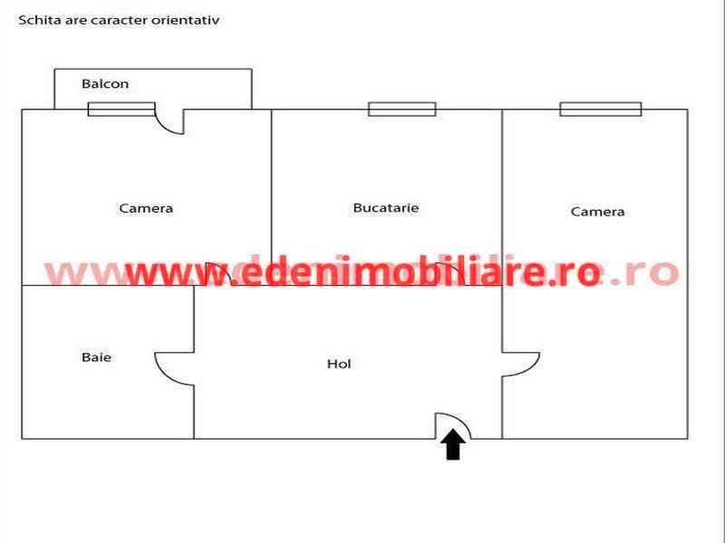 Apartament 2 camere de vanzare in Cluj, zona Marasti, 76000 eur