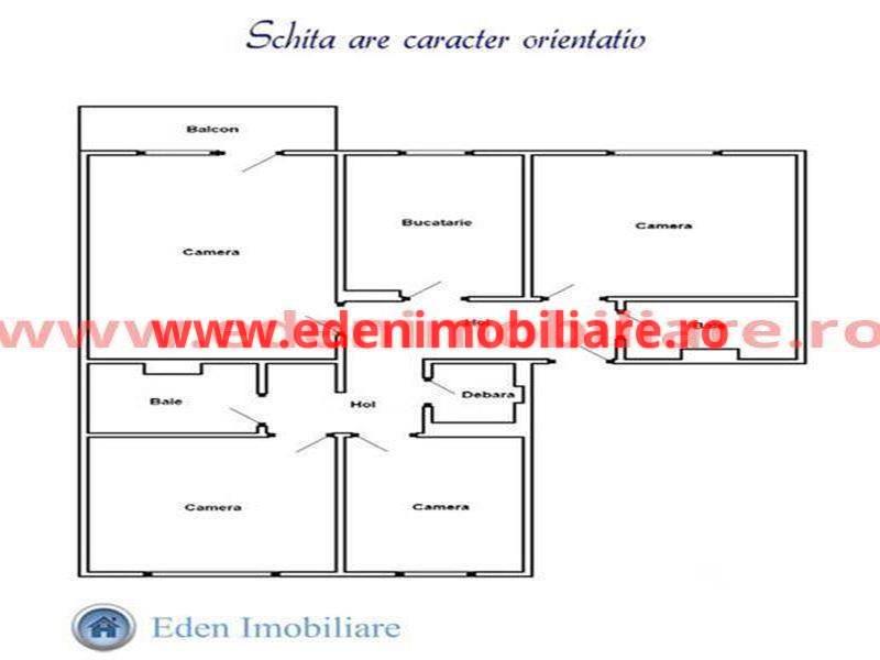 Apartament 4 camere de vanzare in Cluj, zona Manastur, 60000 eur