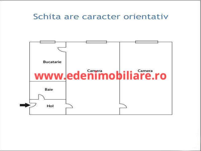 Apartament 2 camere de vanzare in Cluj, zona Dambu Rotund, 50000 eur