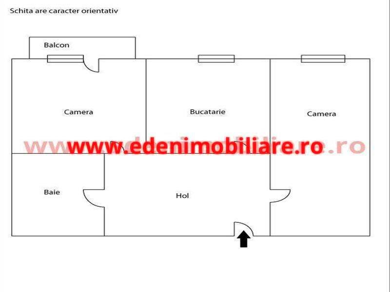 Apartament 2 camere de vanzare in Cluj, zona Marasti, 54000 eur