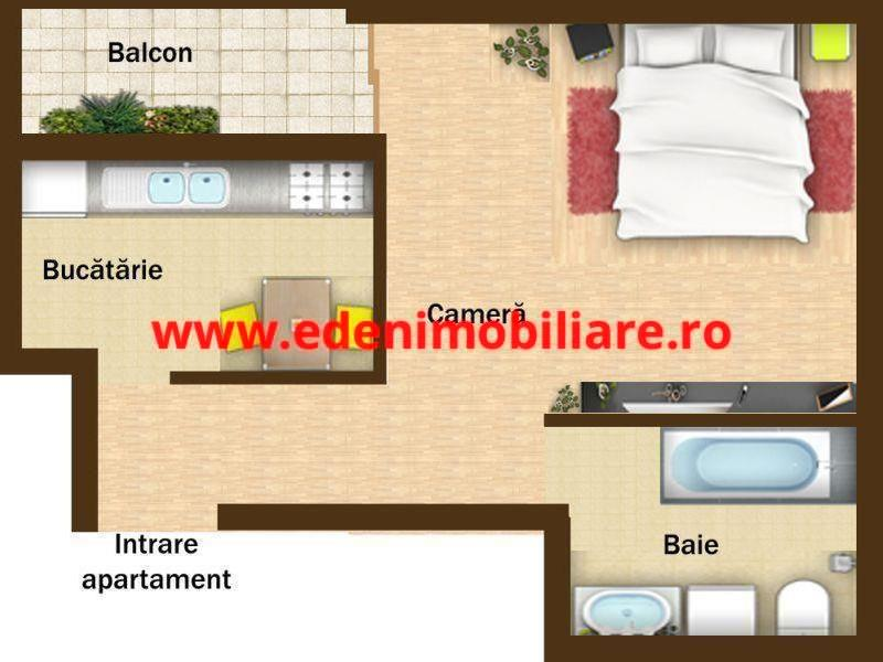 Apartament 1 camera de vanzare in Cluj, zona Baciu, 72000 eur