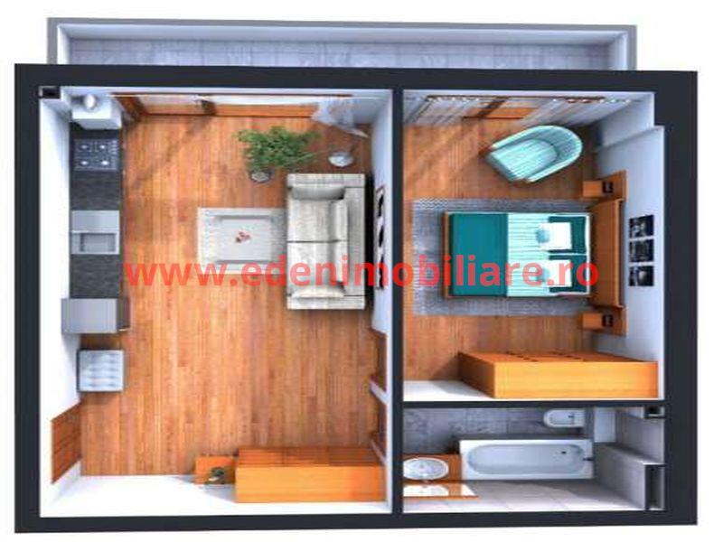 Apartament 2 camere de vanzare in Cluj, zona Centru, 59900 eur
