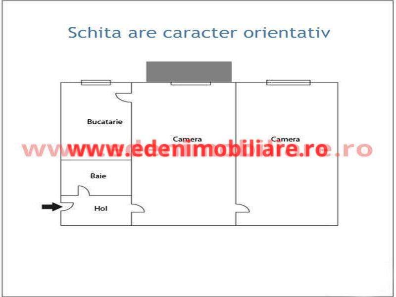 Apartament 2 camere de vanzare in Cluj, zona Centru, 128000 eur