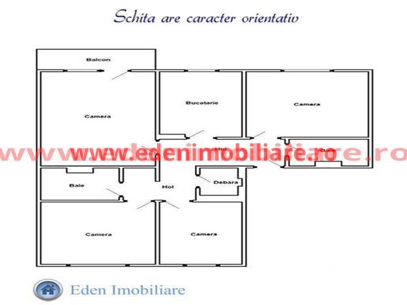 Apartament 4 camere de vanzare in Cluj, zona Marasti, 88000 eur