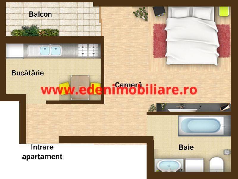 Apartament 1 camera de vanzare in Cluj, zona Iris, 31000 eur