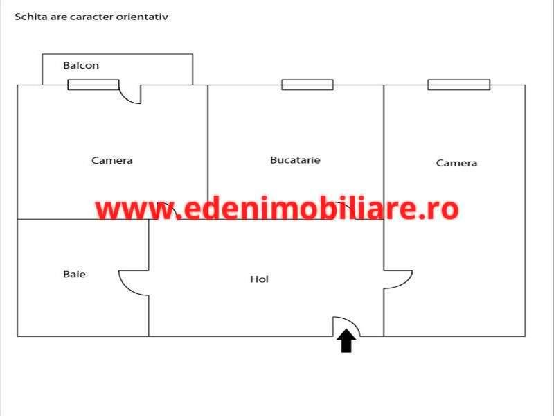 Apartament 2 camere de vanzare in Cluj, zona Marasti, 53500 eur
