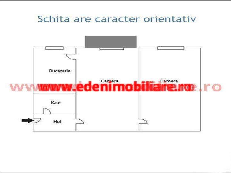 Apartament 2 camere de vanzare in Cluj, zona Centru, 52000 eur