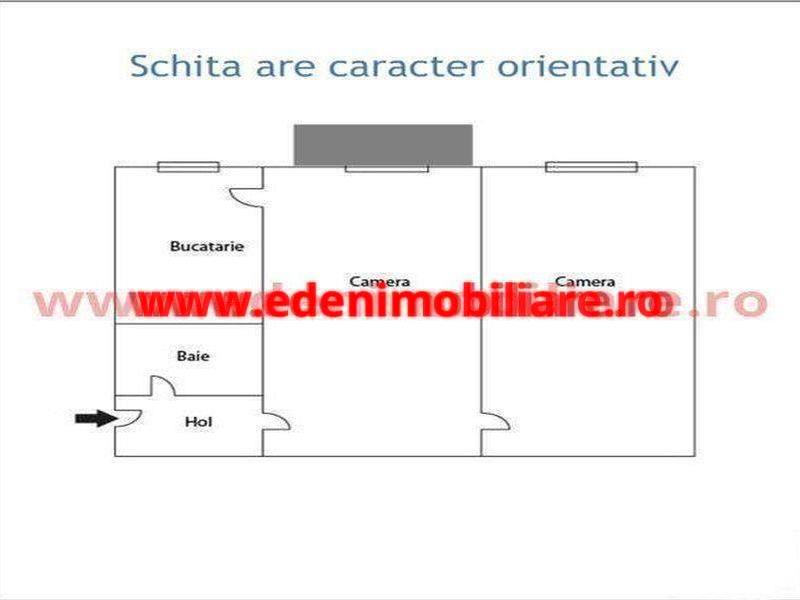 Apartament 2 camere de vanzare in Cluj, zona Centru, 65000 eur