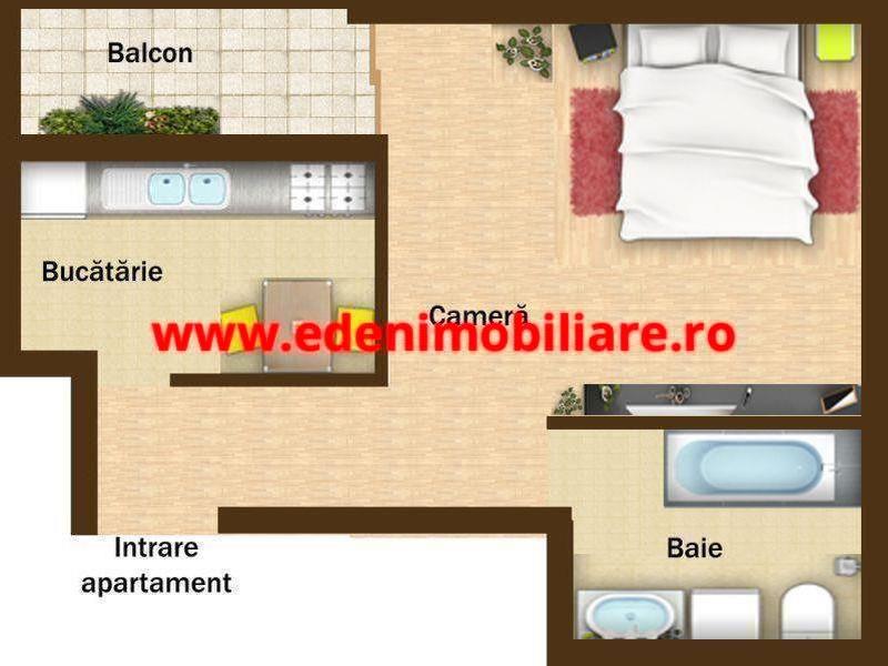 Apartament 1 camera de vanzare in Cluj, zona Gheorgheni, 55000 eur