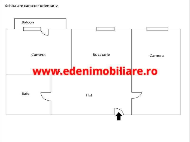 Apartament 2 camere de vanzare in Cluj, zona Plopilor, 55000 eur