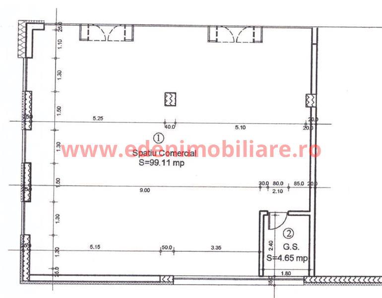 Spatiu Comercial  de vanzare in Cluj, zona Borhanci, 98000 eur