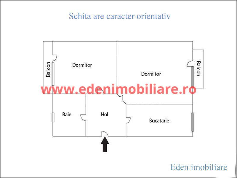 Apartament 2 camere de vanzare in Cluj, zona Marasti, 75000 eur