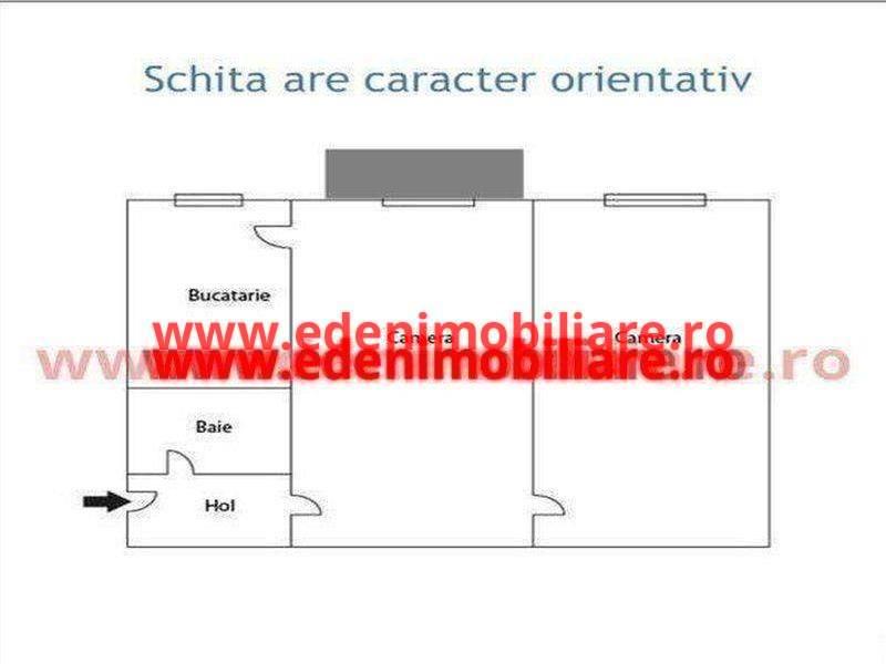 Apartament 2 camere de vanzare in Cluj, zona Grigorescu, 55000 eur