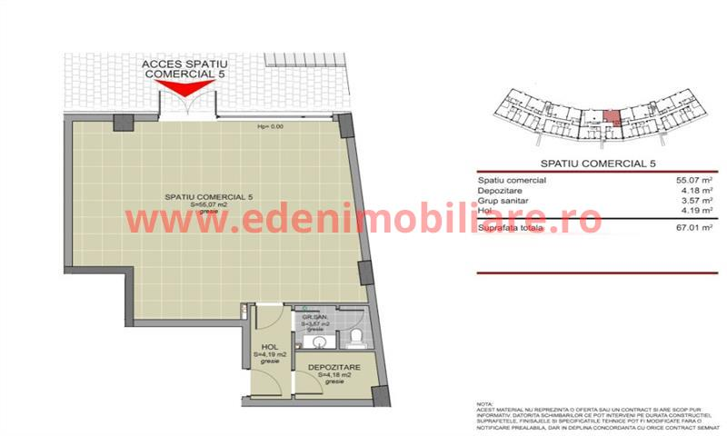 Spatiu Comercial  de vanzare in Cluj, zona Buna-Ziua, 79060 eur