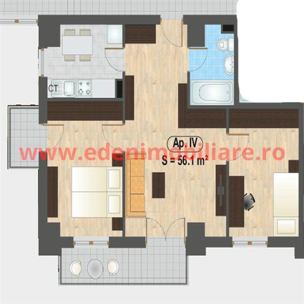 Apartament 3 camere de vanzare in Cluj, zona Iris, 52725 eur