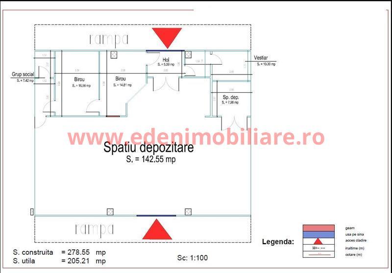 Hala depozitare de inchiriat in Cluj, zona Someseni, 1000 eur