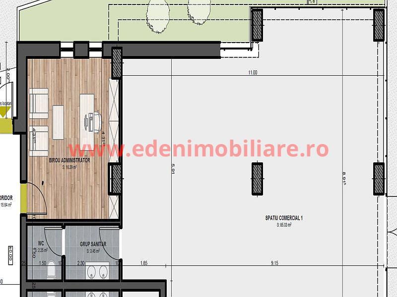 Spatiu Comercial  de vanzare in Cluj, zona Marasti, 143000 eur