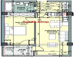Vanzare apartament cu 2 camere in Centru