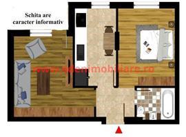 Vanzare apartament cu 2 camere in Zorilor