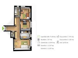Apartament 3 camere 75 m in Gheorgheni, Cluj Napoca