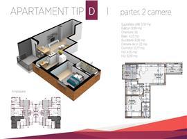 Apartament 2 camere finisat la cheie imobil nou Buna Ziua
