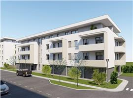 Apartament 3  camere 58.5  mp si terasa imobil nou in Sannicoara