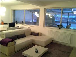 Inchiriere apartament mobilat si utilat in Floresti cu 70 m terasa