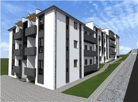 Apartamente 2 camere semifinisate de vanzare in Apahida