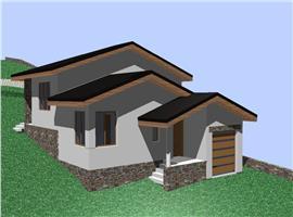 Vanzare casa noua semifinisata 123 m si 550 teren zona Feleacu