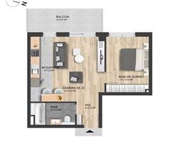 Apartament 1 camera  46 m+terasa zona Intre Lacuri