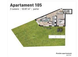 Apartament 2 camere cu gradina 164 m de vanzare in Marasti