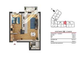 Comision 0! Vanzare apartament cu 2 camere  Marasti Cluj-Napoca