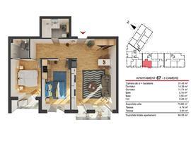 Comision 0! Vanzare apartament 3 camere Marasti imobil nou Cluj-Napoca