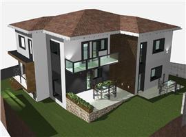 Case cuplate de vanzare in zona sat Popesti com Baciu-Proiect nou!