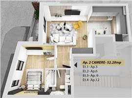 Vanzare apartament 2 camere Semicentral Cluj-Napoca
