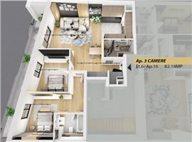 Vanzare apartament 3 camere Semicentral Cluj-Napoca